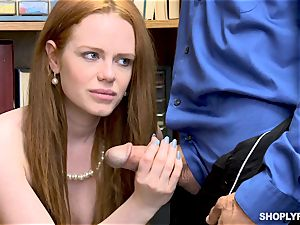 Ella Hughes pounded plums deep by insatiable mall cop