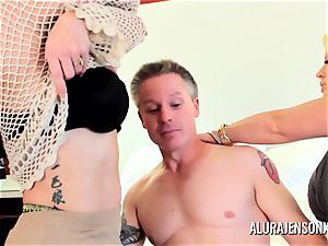 Alura Jenson cougar three-way boink with Brandi May