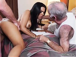 Jane drilled by elder dude adult cinema Staycation with a brazilian bombshell
