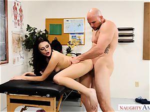 Megan Sage flashes student jaws to man-meat