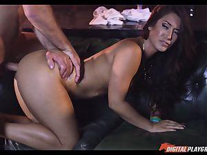 Creaming on magnificent black-haired Eva Lovia