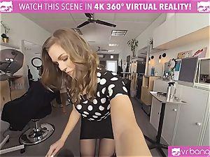VRBangers.com Hairdresser Ella penetrated rock hard and facial cumshot