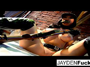 Jayden gets busy on a fortunate solo pink cigar