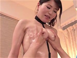 Nana Nakamura gives massage and receives spear in come back