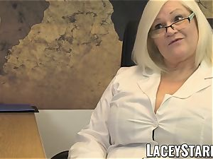 LACEYSTARR - GILF slurps Pascal milky cum after hook-up
