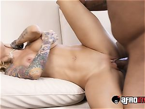 inked mummy Sarah Jessie Getting torn up on bed