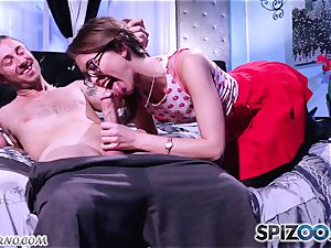 Retro porn with a youthfull rock 'n' roll student Riley Reid