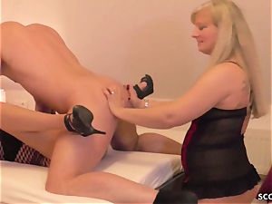 GERMAN STEP mother filthy TINA AND aunt-in-law plow sonny AND spunk swap