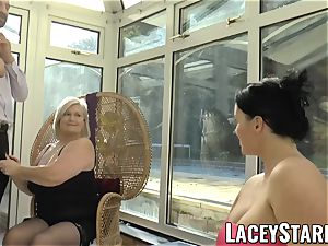LACEYSTARR - Pascal pounding Lacey Starr and her friend