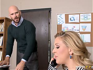 cougar boss Cherie Deville gets shafted by a yam-sized dicked employee
