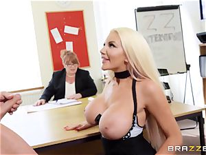 Nicolette Shea - extreme energy test for cock-squeezing juicy vag