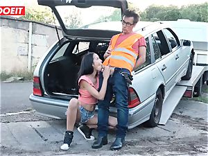 LETSDOEIT - teenager humps elder boy For Free Car Repair