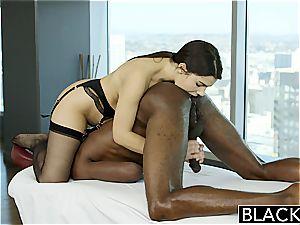 BLACKED stellar Italian honey Valentina Nappi rimming dark-hued guy With zeal
