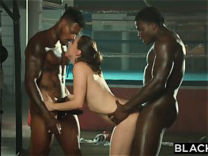 BLACKED Tori dark-hued Is oiled Up And dominated By 2 BBCs