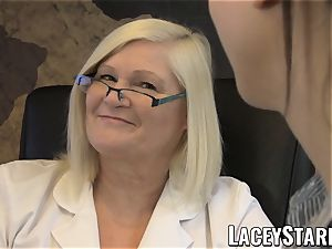LACEYSTARR - GILF heals patient with all girl ejaculation