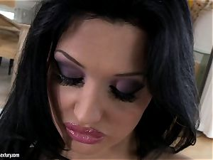 gorgeous fuckslut Aletta Ocean gets red-hot alone in the bed playing with her pussy