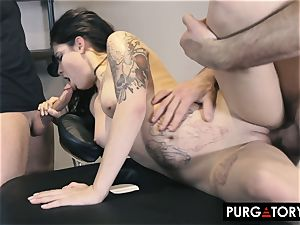PURGATORY I let my wife ravage 2 men in front of me
