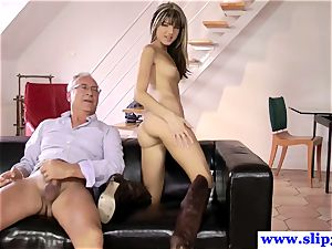 brit nubile butt-banged deeply by aged mans spear