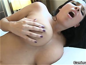 Anissa Kate showcasing her enormous inborn mounds in Public