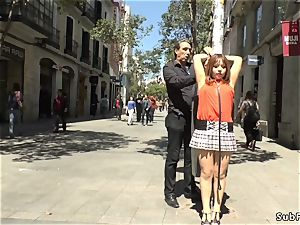 saucy japanese disgraced in public of Madrid