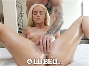 well-lubed lubed large schlong ravage with smallish light-haired Elsa Jean
