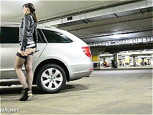 Jeny Smith draining at car park