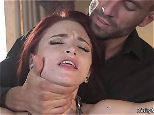 bony red-haired anal pounded by meaty wood