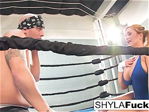 uber-sexy Shyla gets some training