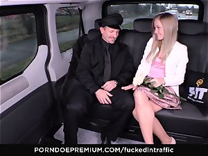 humped IN TRAFFIC - spunk on butt for naughty slim towheaded