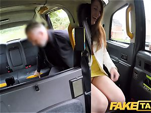 fake cab insatiable red-haired bombshell in filthy ravage