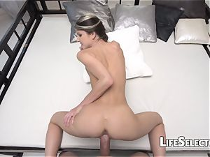 Gina Gerson - petite girl toying with a thick Dick(POV)