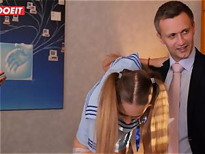 LETSDOEIT - French schoolgirl torn up Until She sprays