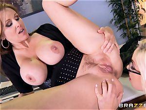 manager Julia ann bangs her jaw-dropping secretary Olivia Austin