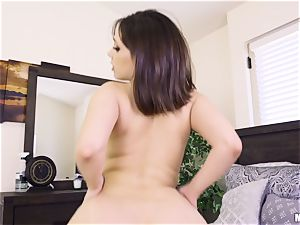 strap on dildo and stuff the twats of Jenna and Whitney