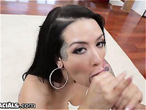 Katrina Jade getting the facehole approach