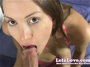 She deep throats your shaft then romps you until you jizz in her