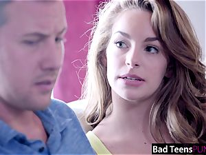 super-naughty childminder Kimmy Granger Creampied By boss