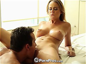 Alexis Adams uses her curves and muff