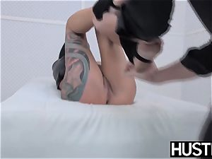 emo cougar Lola sugary twat boinked with lollipop and playthings