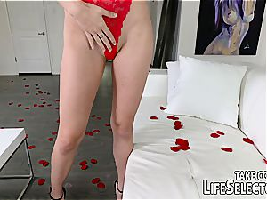 Valentine's Day home porn with Adria Rae