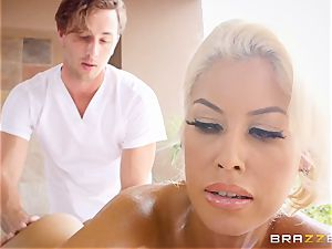 insane huge-chested Bridgette B lubricated up and boned in her tight puss