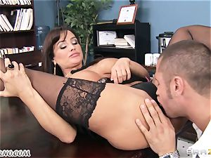 yam-sized bap assistant Lisa Ann takes chief's hard-on in the office