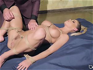 ash-blonde gets roped up and romped