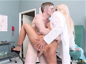 meaty splattered medic Nina Elle seduces her favourite patient