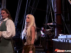 Pirate wedges his hard meat sword into Devon and Teagan Presley