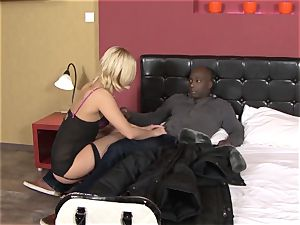 Invited a stranger hotwife trainer to tear up ash-blonde wife