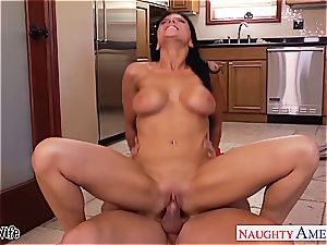 horny Romi Rain takes his member deep inwards her