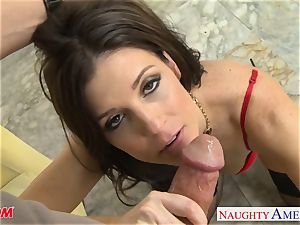 Stockinged mother India Summers gets humped and facialized