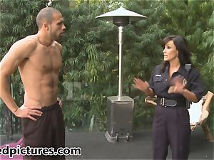 huge-titted cop Lisa Ann gives out her hard-on penalty