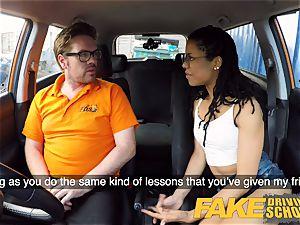 fake Driving school ebony yankee minx Kira Noir